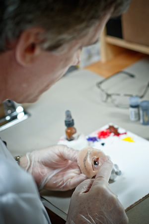 Medical Art Prosthetics practitioner Gregory G. Gion at work